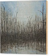 Marshy Parallels Wood Print