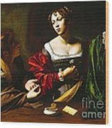 Martha And Mary Magdalene Wood Print