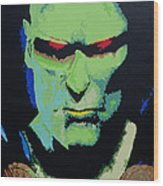 Martian Manhunter - A Close Encounter Wood Print