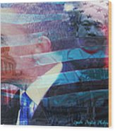 Martin And Obama Wood Print