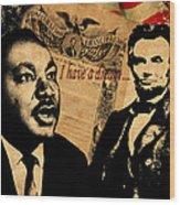 Martin Luther King Jr 2 Wood Print