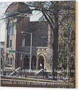Martin Luther King Jr. And Sixteenth Street Baptist Church Wood Print