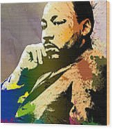 Martin Luther King Jr.  Wood Print