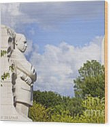 Martin Luther King Jr Memorial And The Washington Monument Wood Print
