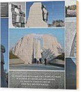 Martin Luther King Jr Memorial Collage 1 Wood Print