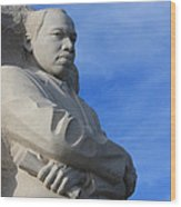 Martin Luther King Jr Monument Detail Wood Print