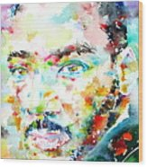 Martin Luther King Jr. - Watercolor Portrait Wood Print
