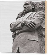 Martin Luther King Memorial Statue Wood Print