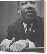 Martin Luther King Press Conference 1964 Wood Print by Anonymous