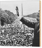 Martin Luther King The Great March On Washington Lincoln Memorial August 28 1963-2014 Wood Print