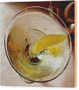 Martini 3 Wood Print