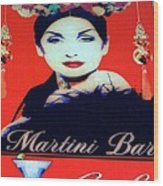 Martini Bar Wood Print
