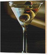 Martini Wood Print