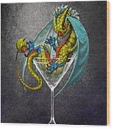 Martini Dragon Wood Print