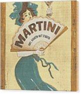 Martini Dry Wood Print