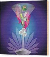 Martini Flower Wood Print