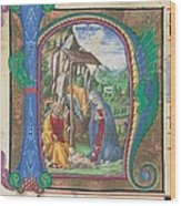Martini Francesco Di Giorgio, Nativity Wood Print by Everett