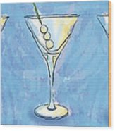 Martini Lunch Wood Print
