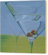 Martini Time Wood Print