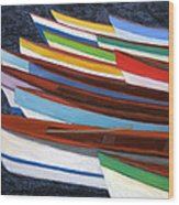 Martinique Boats Wood Print