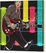 Marty Mcfly Plays Guitar Hero Wood Print