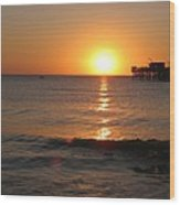 Marvelous Gulfcoast Sunset Wood Print