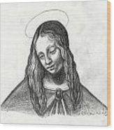 Mary After Davinci Wood Print