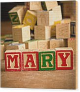 Mary - Alphabet Blocks Wood Print