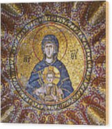 Blessed Virgin Mary And The Child Jesus Wood Print