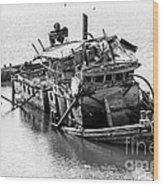 Mary D Hume Shipwreck - Rogue River Oregon Wood Print