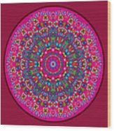Mary Grace Mandala Wood Print