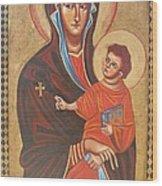 Mary Help Of The Romans Wood Print by Joseph Malham