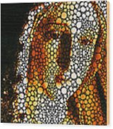 Mary - Holy Mother By Sharon Cummings Wood Print