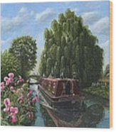 Mary Jane Chesterfield Canal Nottinghamshire Wood Print