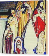 Mary Joseph And Jesus Vintage Religious Catholic Statues Patron Saints And Angels Cb Spandau Quebec Wood Print