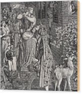 Mary Magdalene At The Door Of Simon Wood Print
