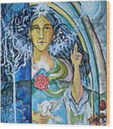 Mary Magdalene Watercolor Wood Print