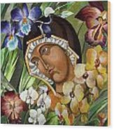 Mary Of The Orchids  Wood Print