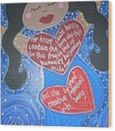 Mary Our Mother Wood Print