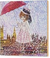 Mary Poppins Wood Print