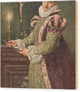 Mary Queen Of Scots Wood Print by Sir James Dromgole Linton