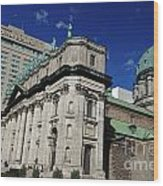 Mary Queen Of The World Cathedral Montreal Wood Print