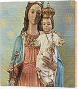 Mary Statue At Taybeh Village Wood Print