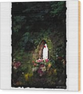 Mary Virgin And Mother Reconciler Of All People And Nations Of Betania Wood Print