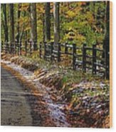 Maryland Country Roads - An Early Kiss Of Winter Wood Print