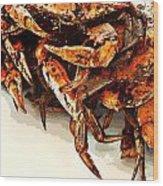 Maryland Crabs Wood Print