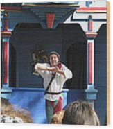 Maryland Renaissance Festival - A Fool Named O - 121226 Wood Print by DC Photographer