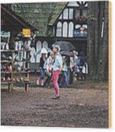 Maryland Renaissance Festival - A Fool Named O - 121231 Wood Print by DC Photographer