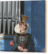 Maryland Renaissance Festival - A Fool Named O - 12128 Wood Print by DC Photographer
