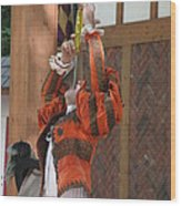 Maryland Renaissance Festival - Johnny Fox Sword Swallower - 121245 Wood Print by DC Photographer